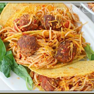 Spaghetti and Meatball Tacos