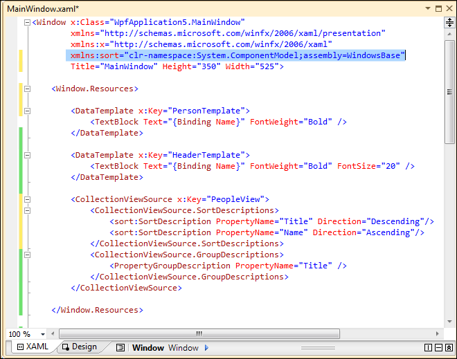 Jerry Nixon on Windows: WPF Data Presentation: step-by-step