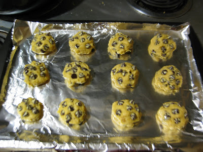 photo of the cookie dough balls ready to be baked