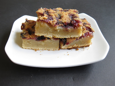 photo of slices of Cherry Mochi Cake on a plate