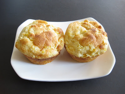 photo of two cornbread puddings on a plate