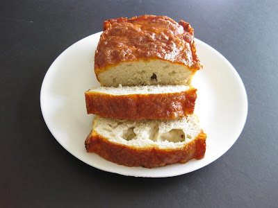 photo of sliced cheese beer bread