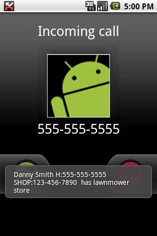 Customer Contacts- screenshot