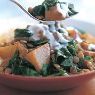 Lentil, Potato & Spinach Curry