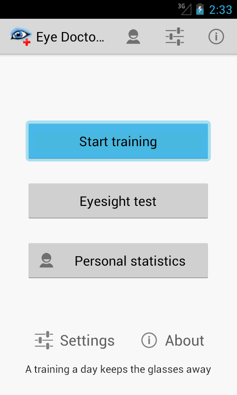 Eye Doctor Trainer - vision up- screenshot