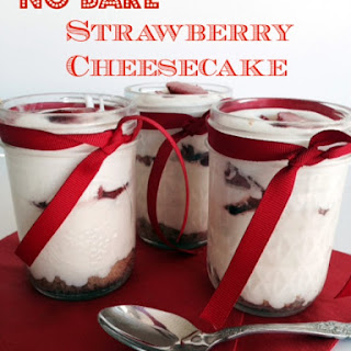 No Bake Strawberry Cheesecake in a Jar.