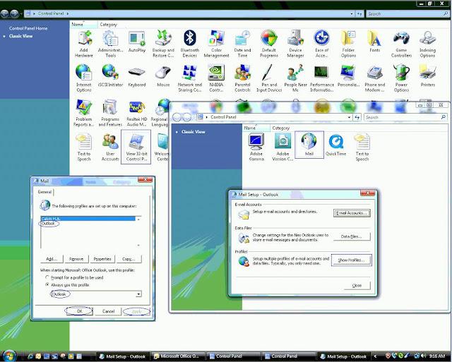 Vista 64bit Denetim Masasında mail ikonu yok - No Mail ...
