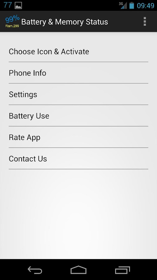 Battery & Memory Status free- screenshot
