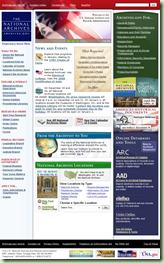 这home page of archives.gov has nearly 150 links.