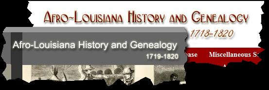 在非洲 - 路易斯安那州历史和家谱网站上的不一致标题