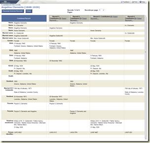 使用组合的记录选项查看NFS证据摘要