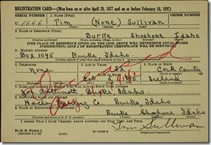 TIM SULLIVAN的注册卡颜色