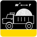 Calculator bulk materials. icon