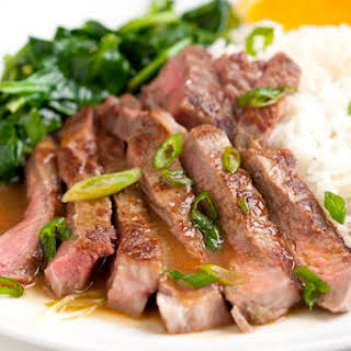 Orange Miso Steak.
