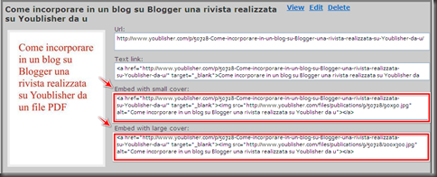Come mettere gadget post blog Blogger libro online PDF