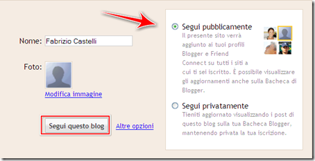 come iscriversi blog blogger Google Friend Connect