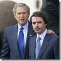 Los anteriores presidentes de España y los EUA, en una de sus polémicas reuniones