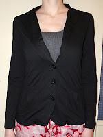 Miley Cyrus & Max Azria Knit Boyfriend Blazer - front