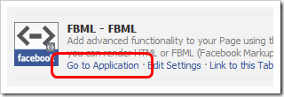 fbml go to application