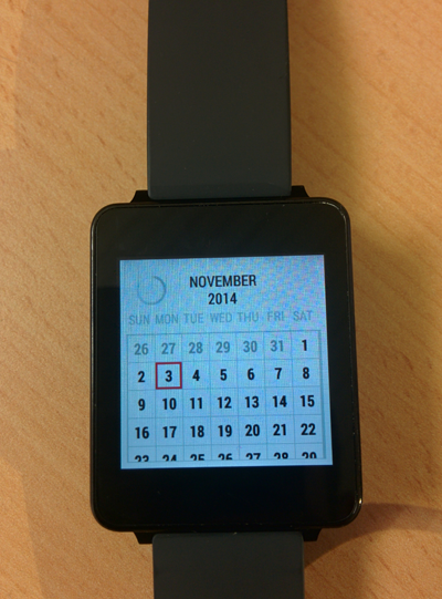 Calendar For Wear OS (Android Wear) screenshots
