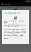 Screenshot of Islamic Hijri Date