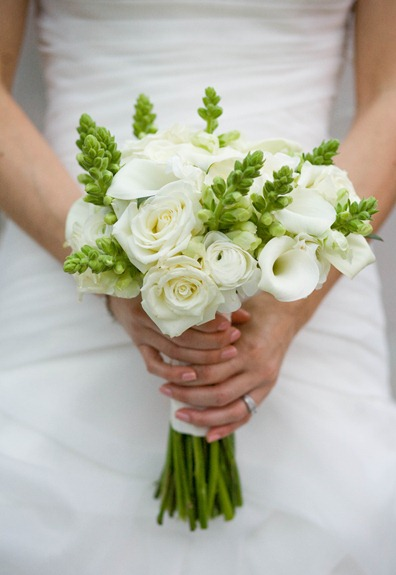 Ivory and Celadon Green Bridal Bouquet