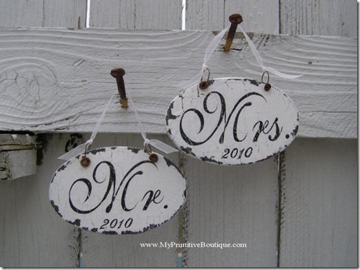mr and mrs. vintage signs