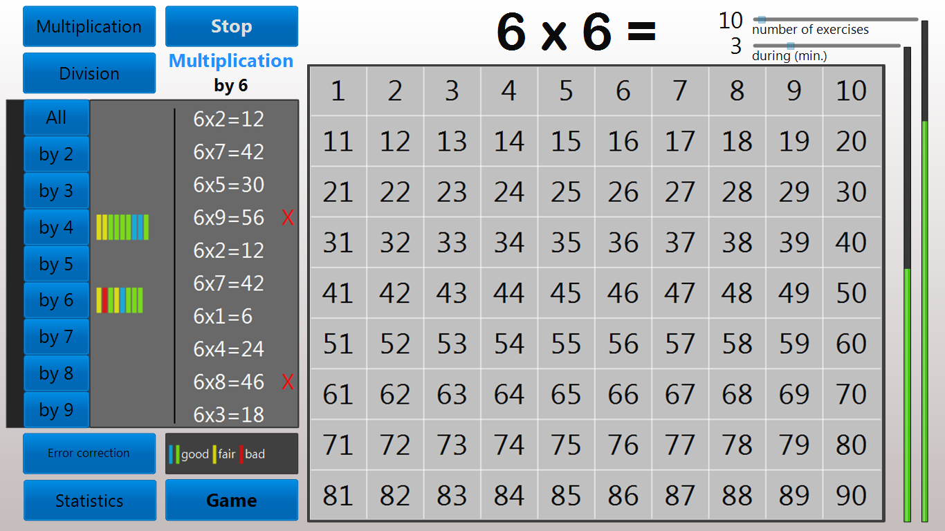 Multiplication tables trainer android apps on google play multiplication tables trainer screenshot gamestrikefo Gallery