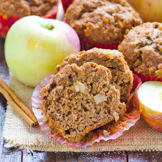 Whole Wheat Apple Spice Muffins.