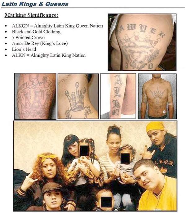 LATINO PRISON GANGS: Mexican/Hispanic Gang Tattoos