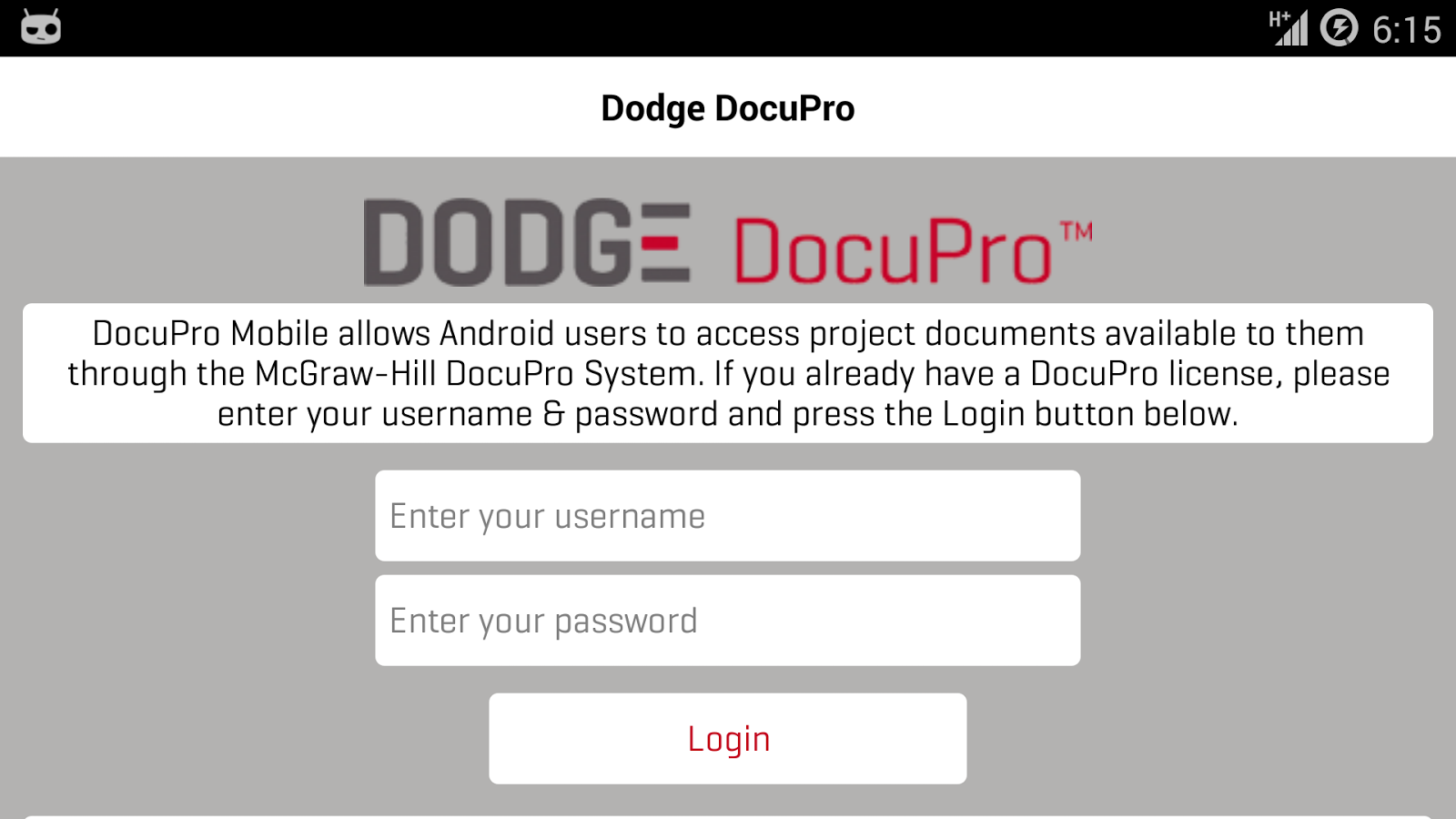 Dodge DocuPro- screenshot