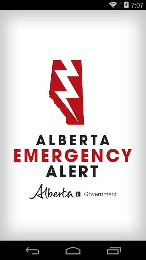 Alberta Emergency Alert- screenshot