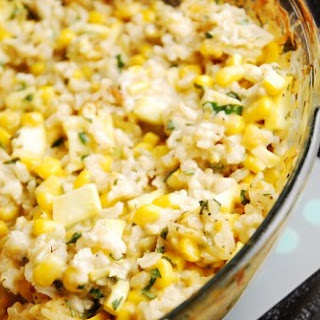 Mexican Style Corn and Rice Casserole.