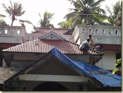 Kerala House Construction At Cherthala Slope Roof Tile Laying