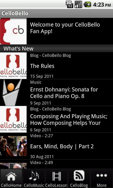 CelloBello - screenshot