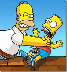 Los Simpson_Homero y Bart
