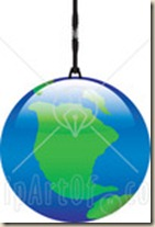 21241-Clipart-Illustration-Of-The-Planet-Earth-Hanging-By-A-Thread-Or-A-Planet-Ornament