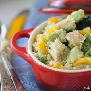 Chicken and Avocado Quinoa Summer Salad.