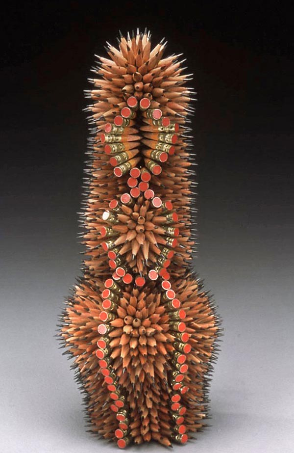 Pencil Sculptures [Pencil art, Sculptures made using color pencils]