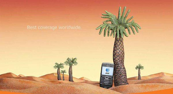 23 creative ads by AT&T [hand-modelling advertisements] - Sahara desert