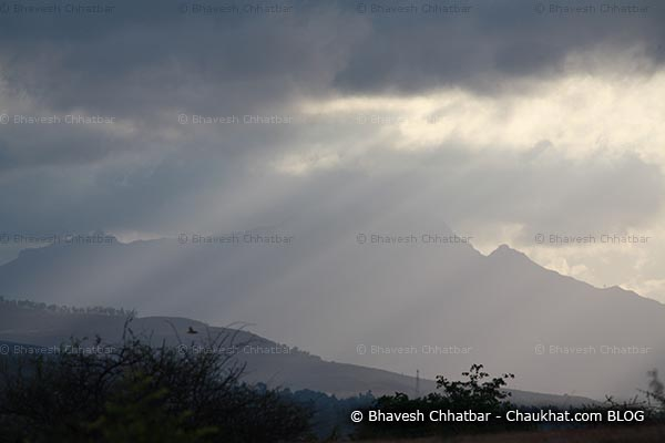 Sun rays tearing off the clouds of monsoon