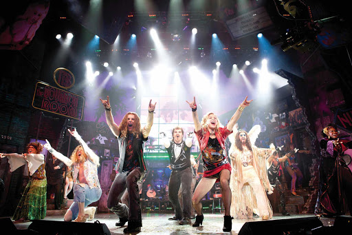 "Norwegian-Cruise-Line-Rock-of-Ages - Enjoy '80s rock music and a riveting love story through the Norwegian Breakaway's exclusive musical production called ""Rock of Ages."""