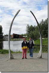 DSC04004 whale bones in front of Yupik house