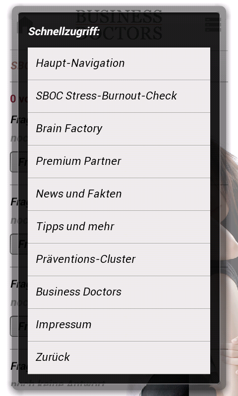 Stress, Burnout, Prävention.- screenshot