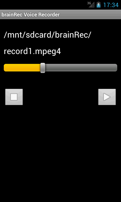 brainRec Voice Recorder - screenshot