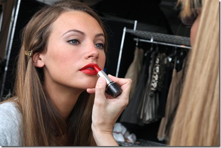Model with Color Intrigue Lipstick
