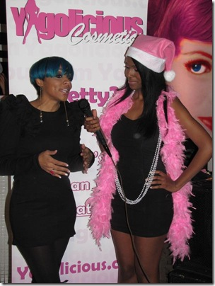 Yagolicious Beauty Affair - Cheri Dennis getting interviewed