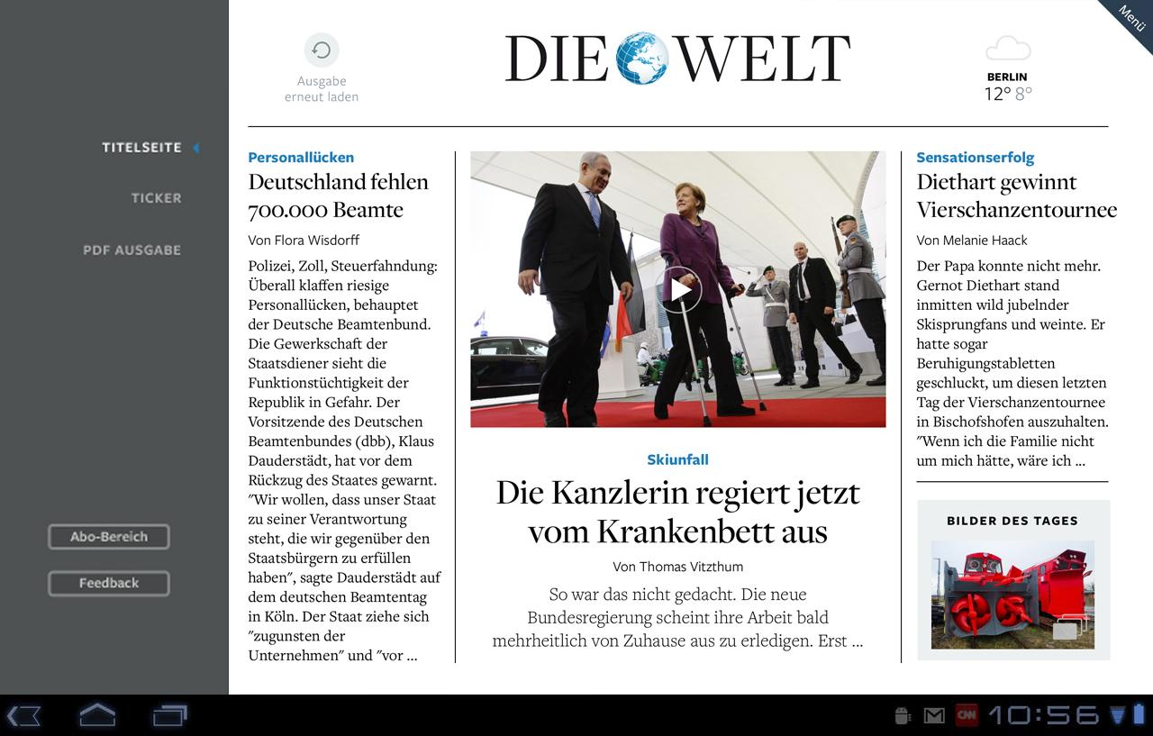DIE WELT Tablet App - screenshot