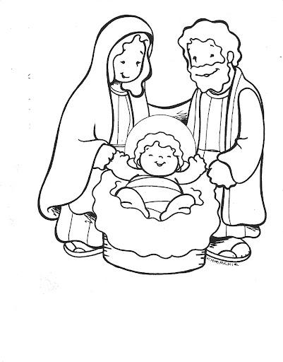 Dibujos de navidad el nacimiento