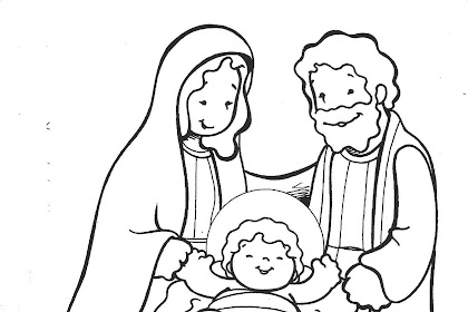 Dibujo De Navidad Para Colorear Nacimiento